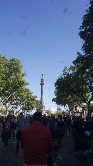 Final da Rambla: Monumento a Cristóvão Colombo